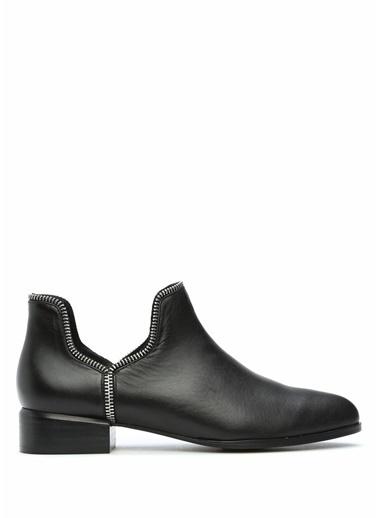 Senso Kalın Topuklu %100 Deri Ayakkabı Siyah